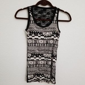 tank top with a lace back